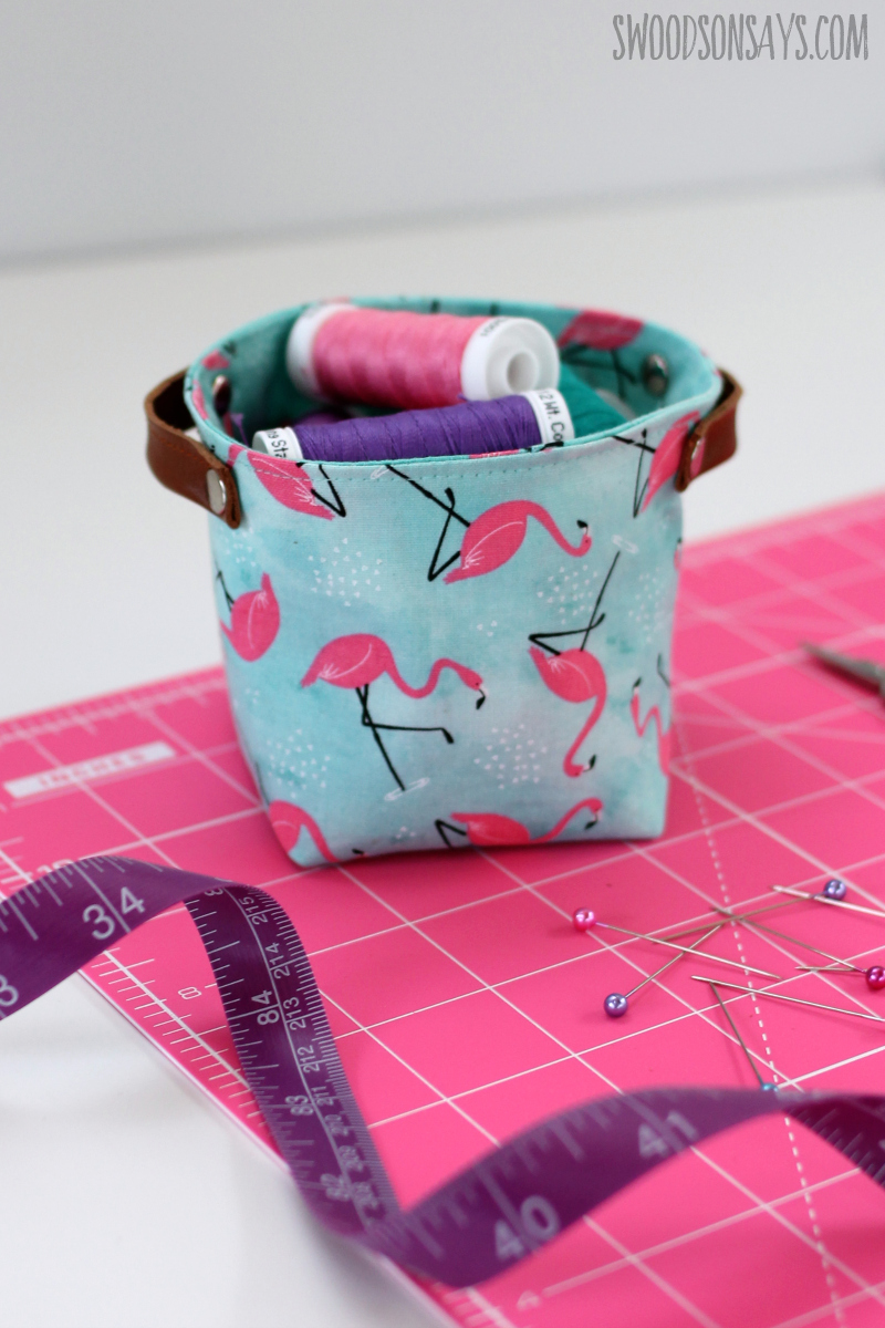 how to sew a little fabric box