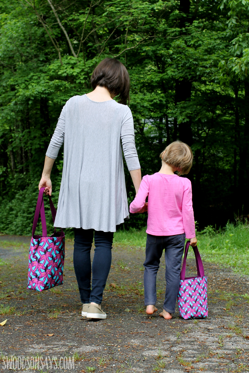 mommy and me sewing pattern tote bag