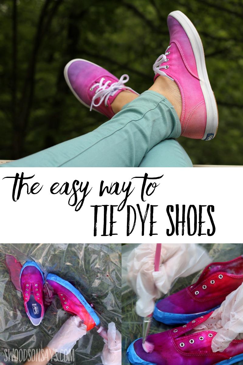 tie dye shoes tutorial