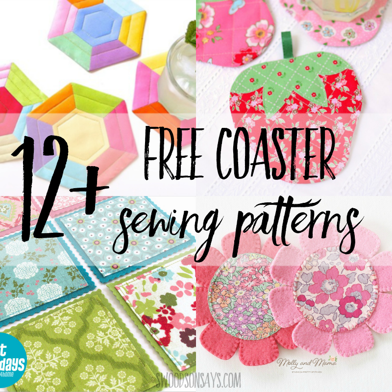 12+ fabric coaster tutorials