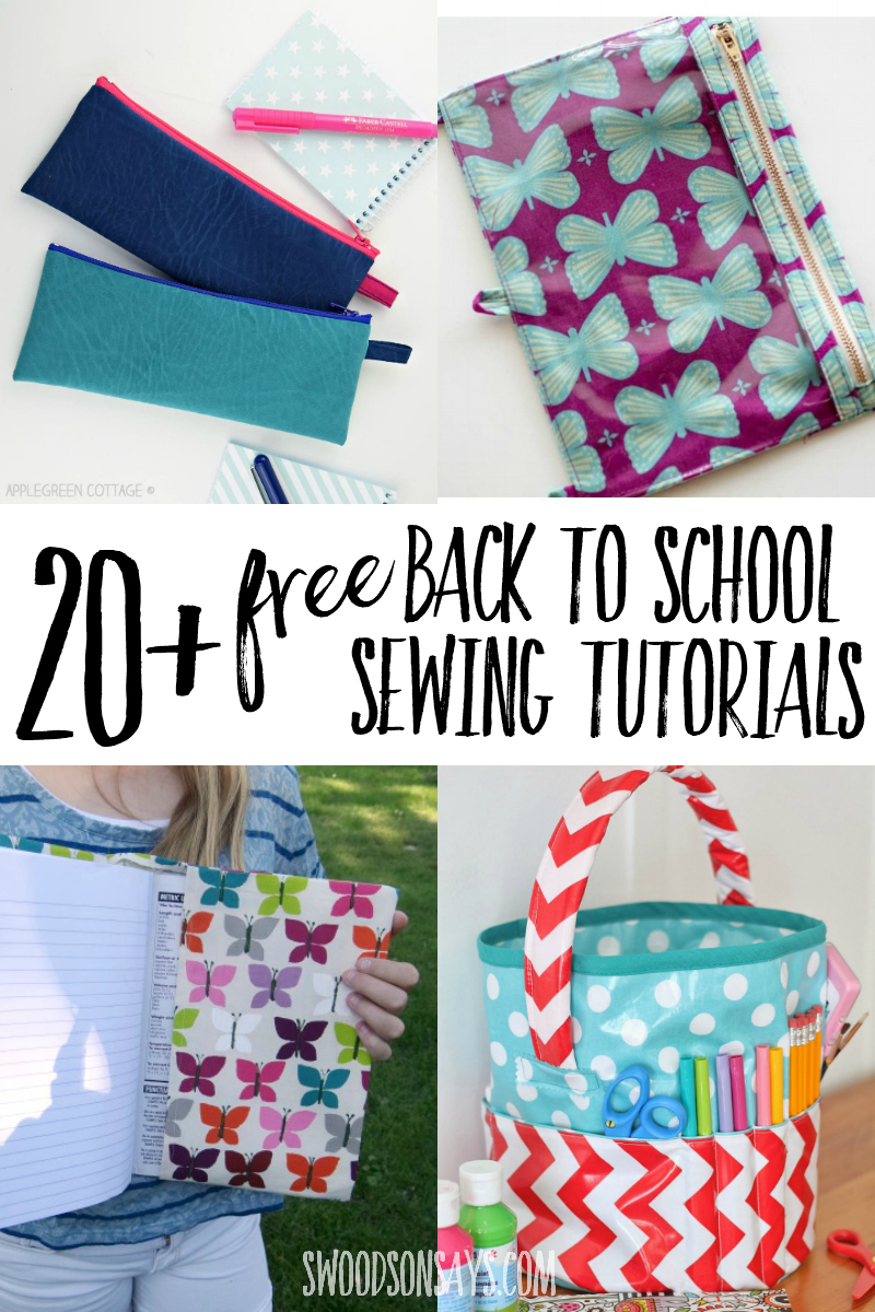 20+ back to school sewing projects