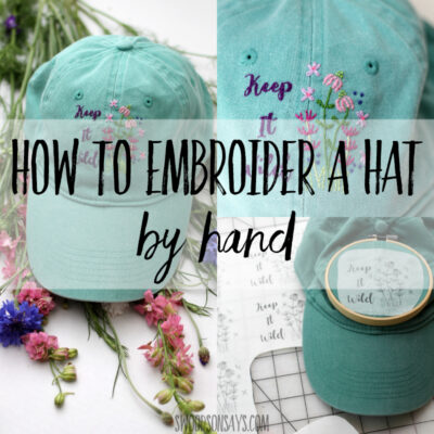How to embroider a hat by hand