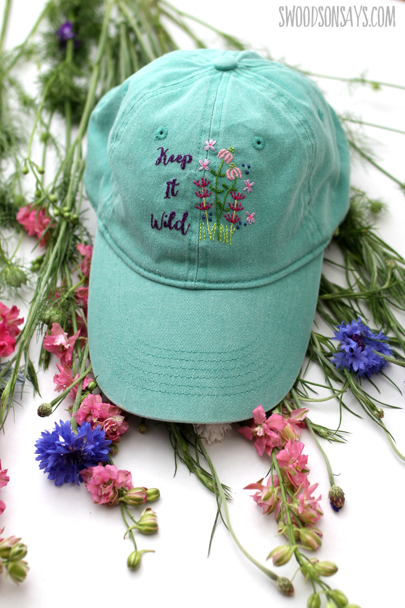 floral embroidered hat tutorial