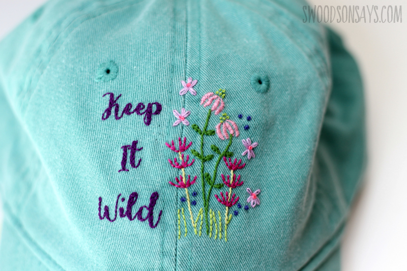 floral hand embroidery pattern