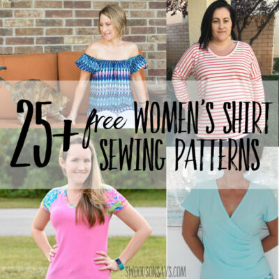 Free women's shirt sewing patterns