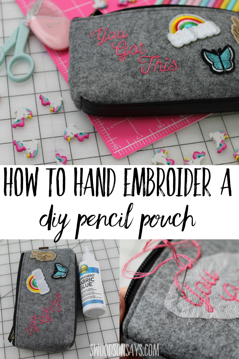 back to school hand embroidery