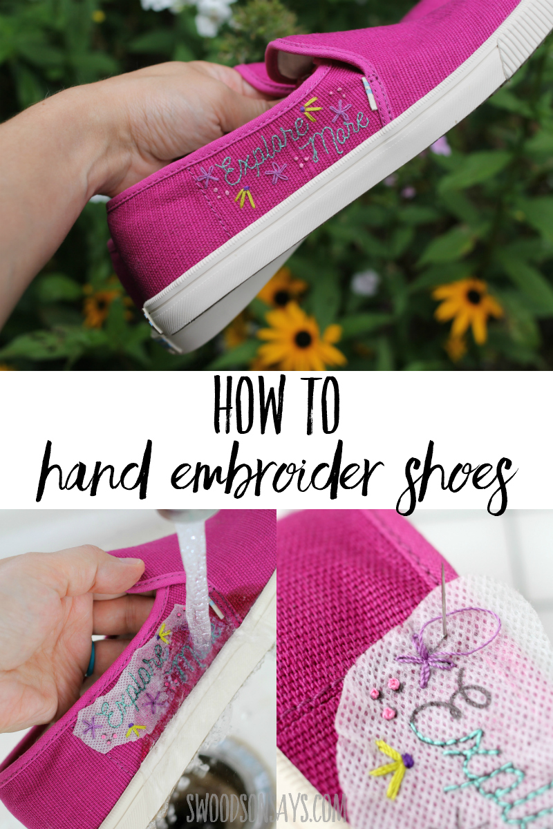 hand embroidered shoes tutorial