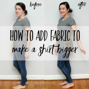how to add fabric to a shirt to make it bigger