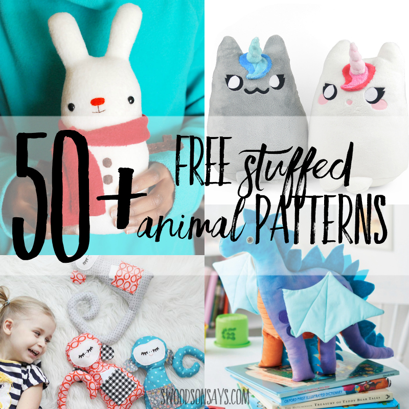 50+ free printable stuffed animal patterns