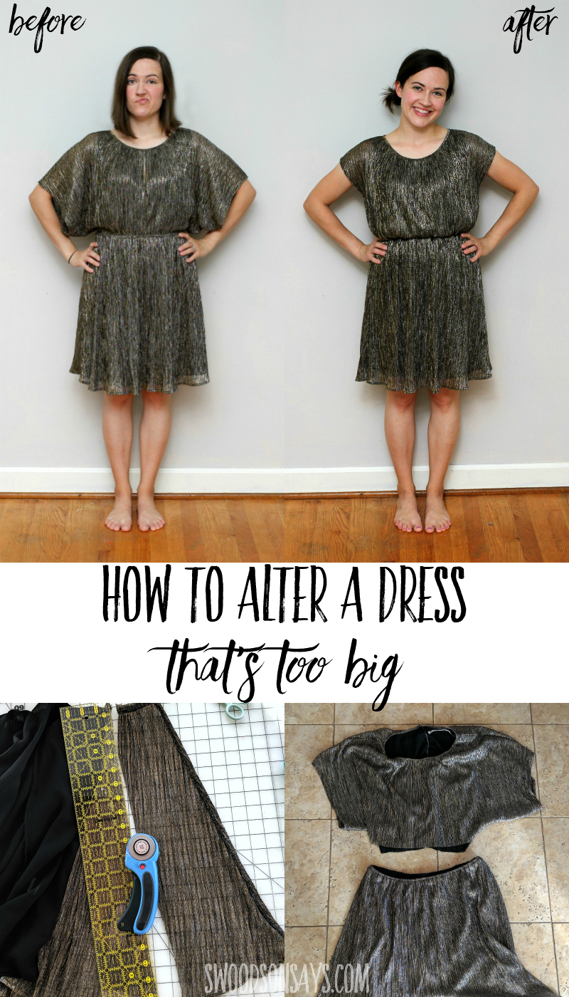 blousy dress refashion tutorial