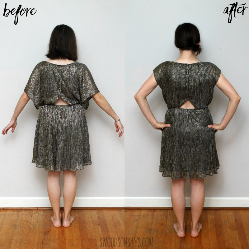 dress with cut out refashion