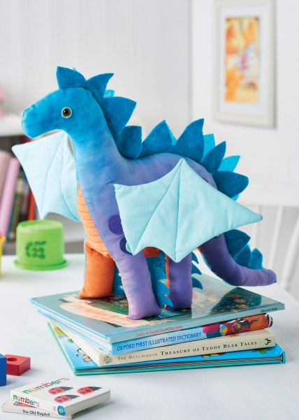 free dragon stuffed animal sewing pattern