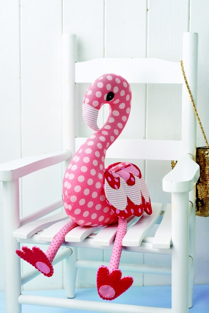 free flamingo stuffed animal sewing pattern