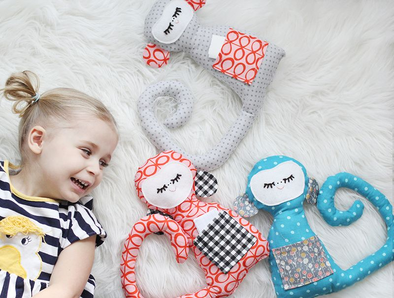 free stuffed monkey sewing pattern