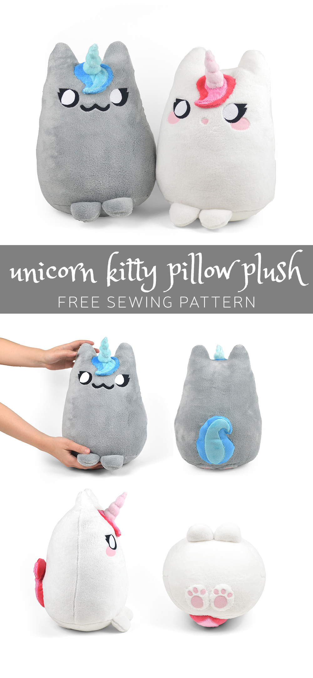 free unicorn kitty pattern