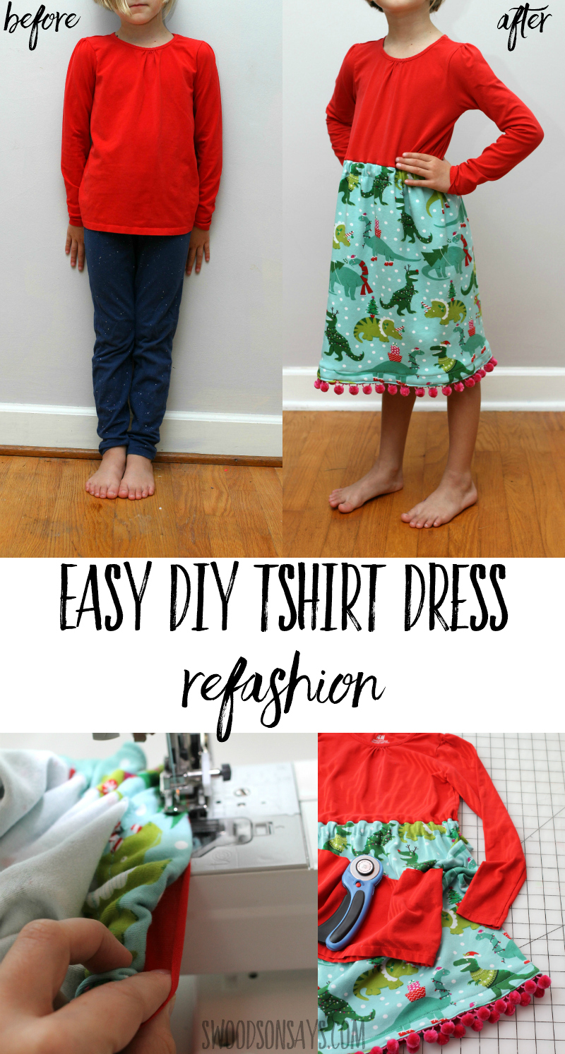 how to add fabric to a shirt to make a dress