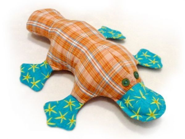 stuffed platypus sewing pattern