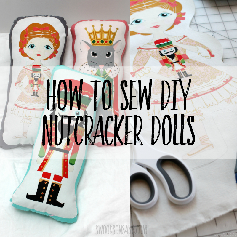 How to sew stuffed toys with nutcracker fabric