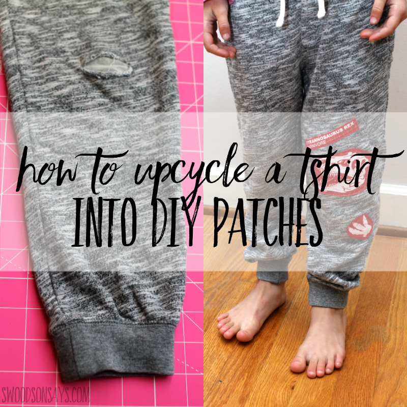 How to upcycle a tshirt into diy patches