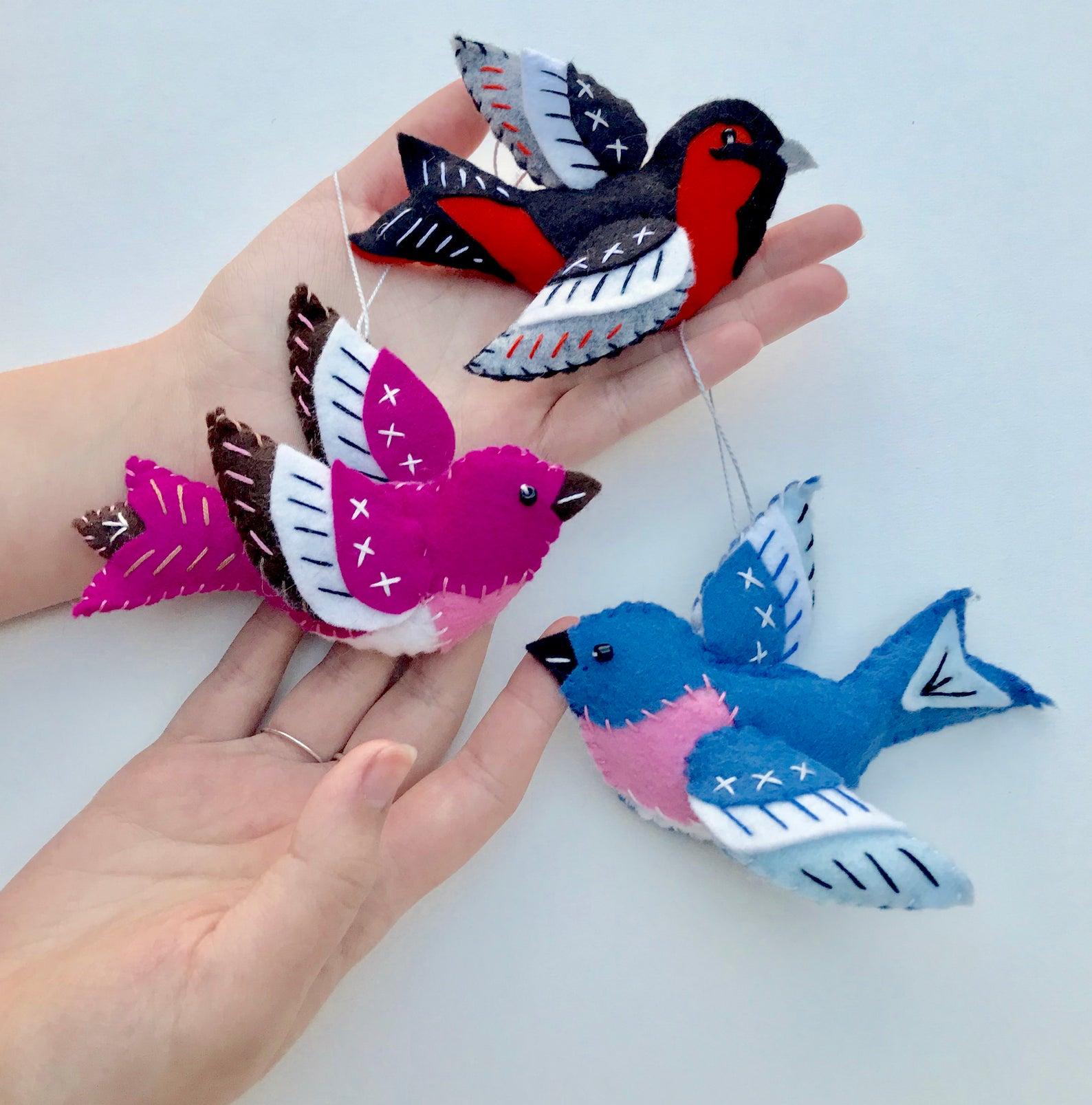 felt bird ornament kit