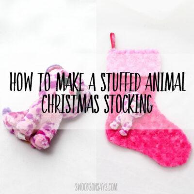 free upcycled stuffed animal christmas stocking pattern