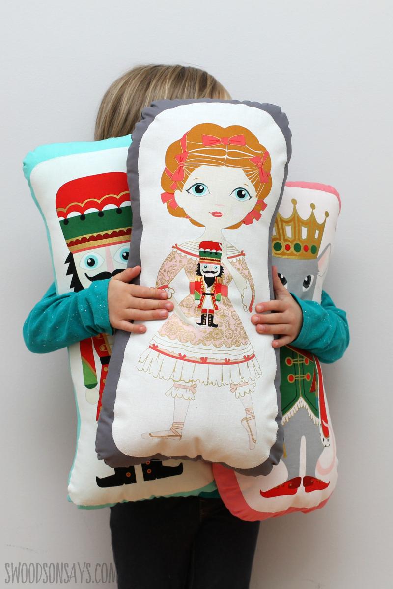handmade nutcracker stuffed doll toy softies