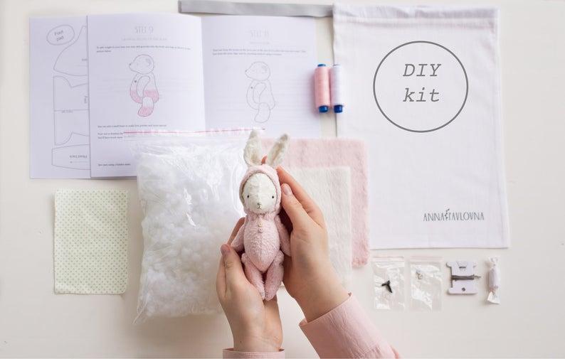 rabbit softie sewing kit
