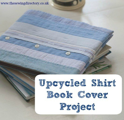 upcycled button up shirt book cover