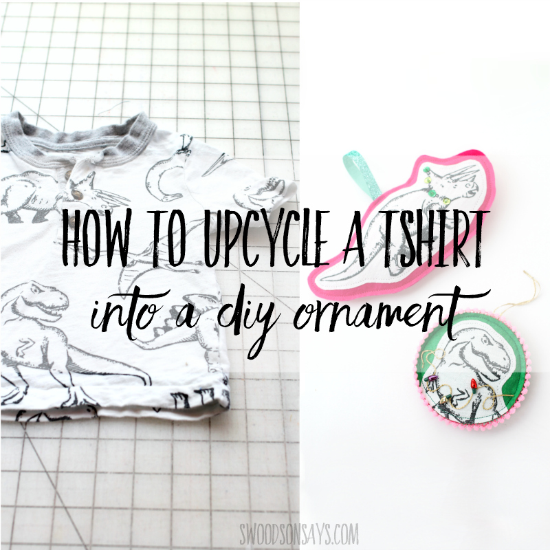 How to upcycle a tshirt into a DIY Christmas ornament