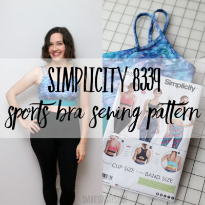 Simplicity 8339 sports bra sewing pattern & some body positivity