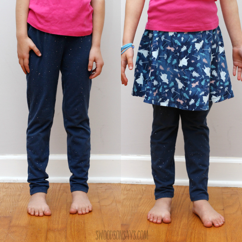 before and after leggings makeover kids sewing tutorial