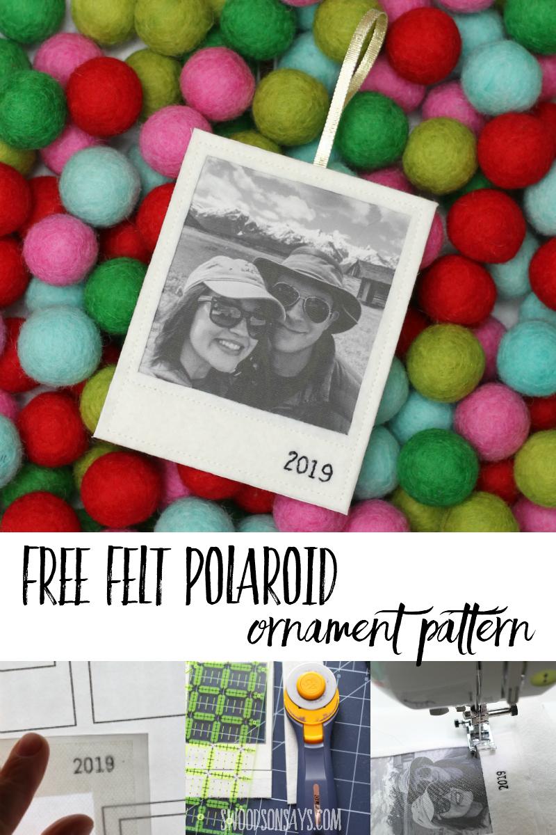 how to make a felt photo ornament