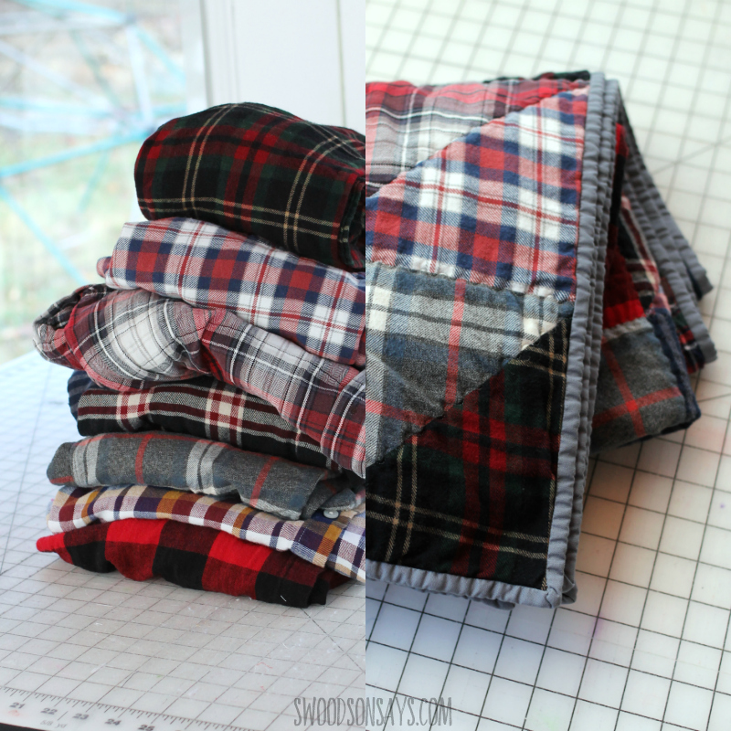 upcyced flannel quilt
