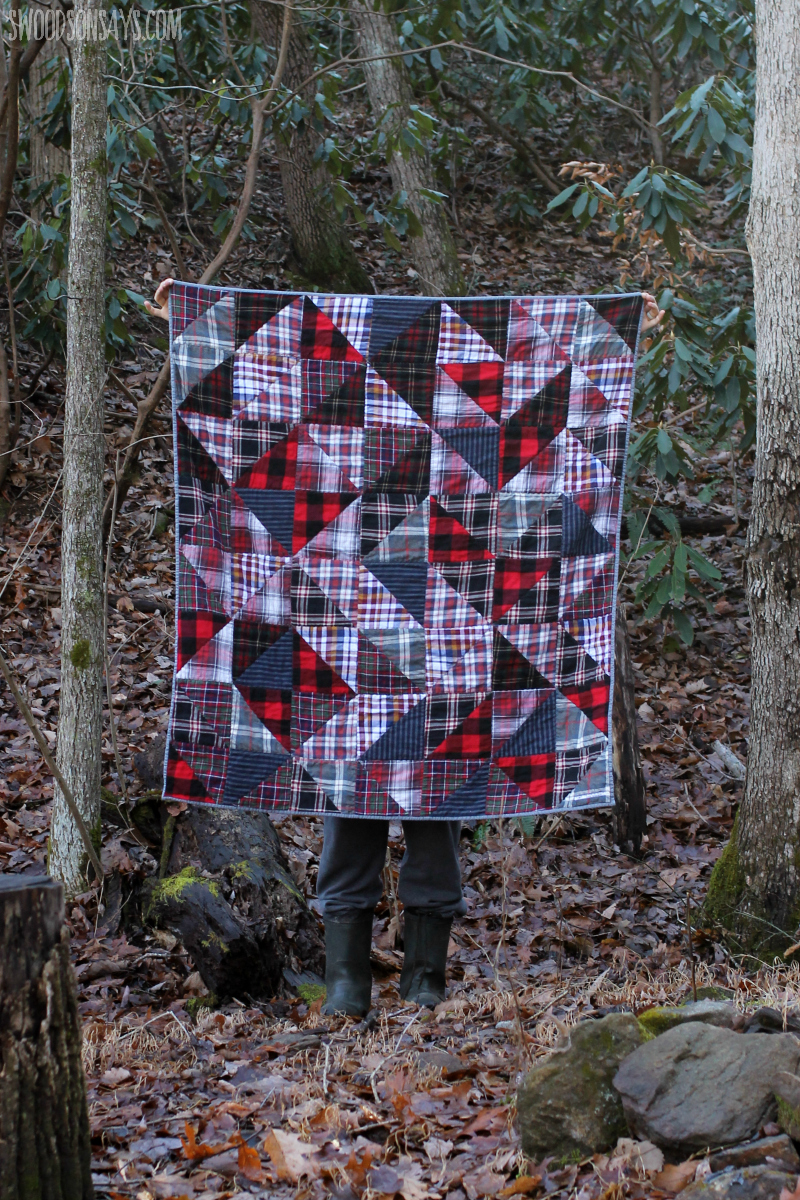 flannel hst quilt tutorial