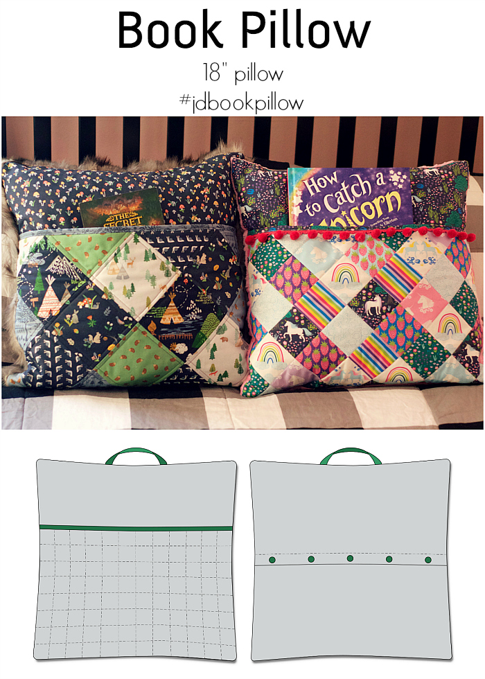 free quilted book pillow pattern