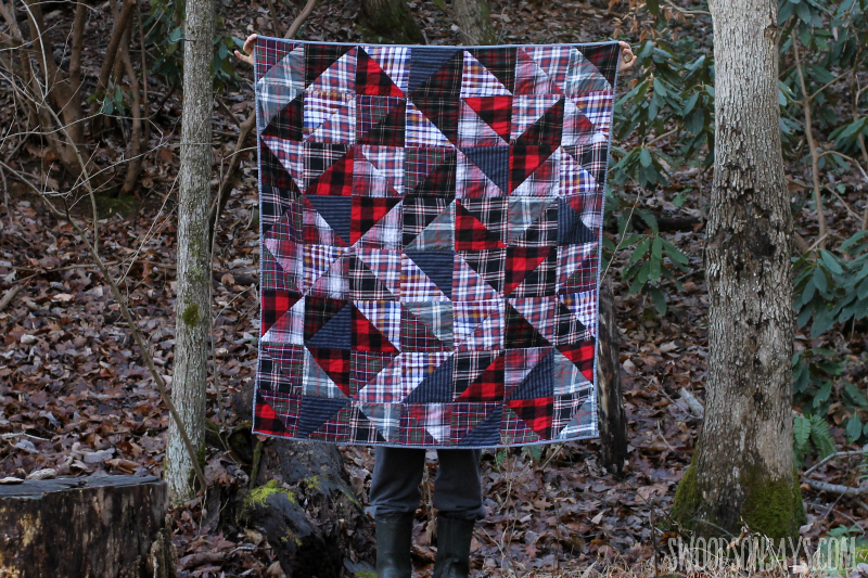scrappy flannel quilt