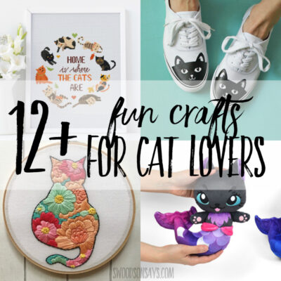 12+ cat crafts for adults to make!