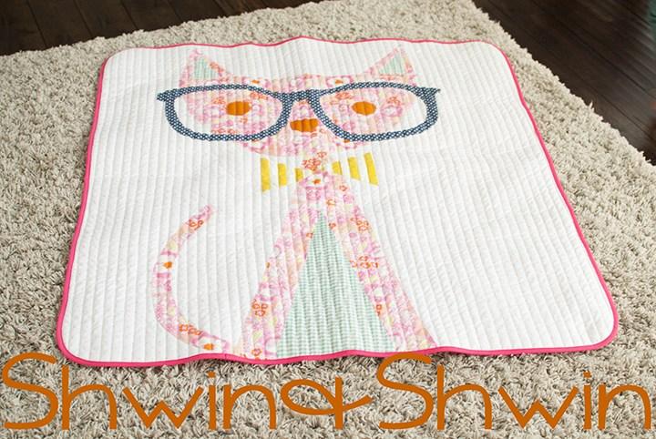 applique cat quilt pattern