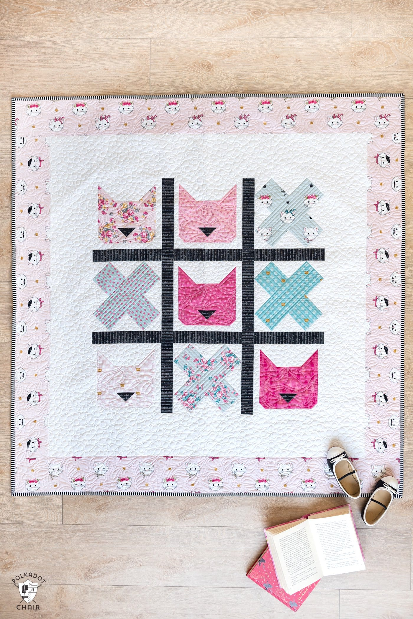 cat baby quilt pattern