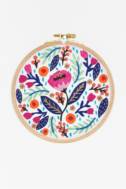 dense floral embroidery pattern
