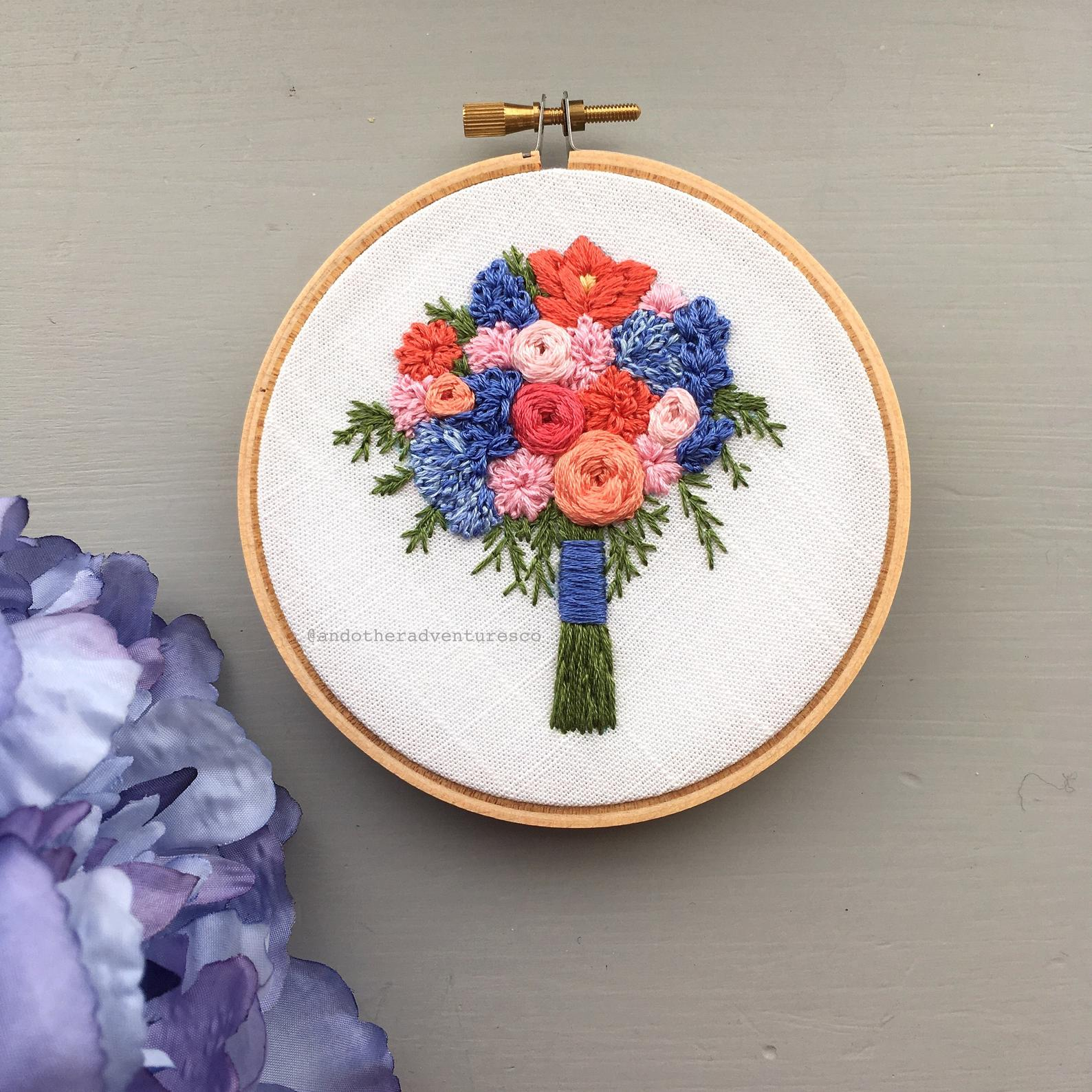 floral bouquet embroidery pattern