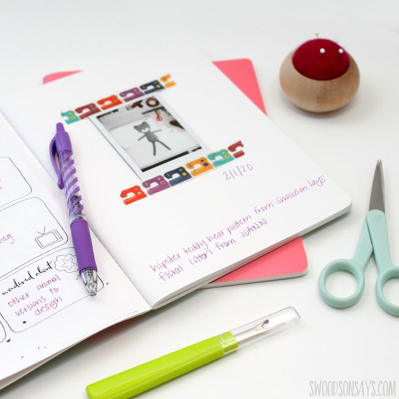 free printable sewing journal