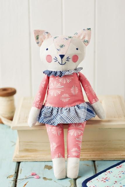 girly cat stuffed animal pattern