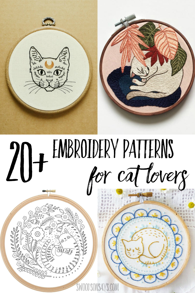 kitty hand embroidery patterns