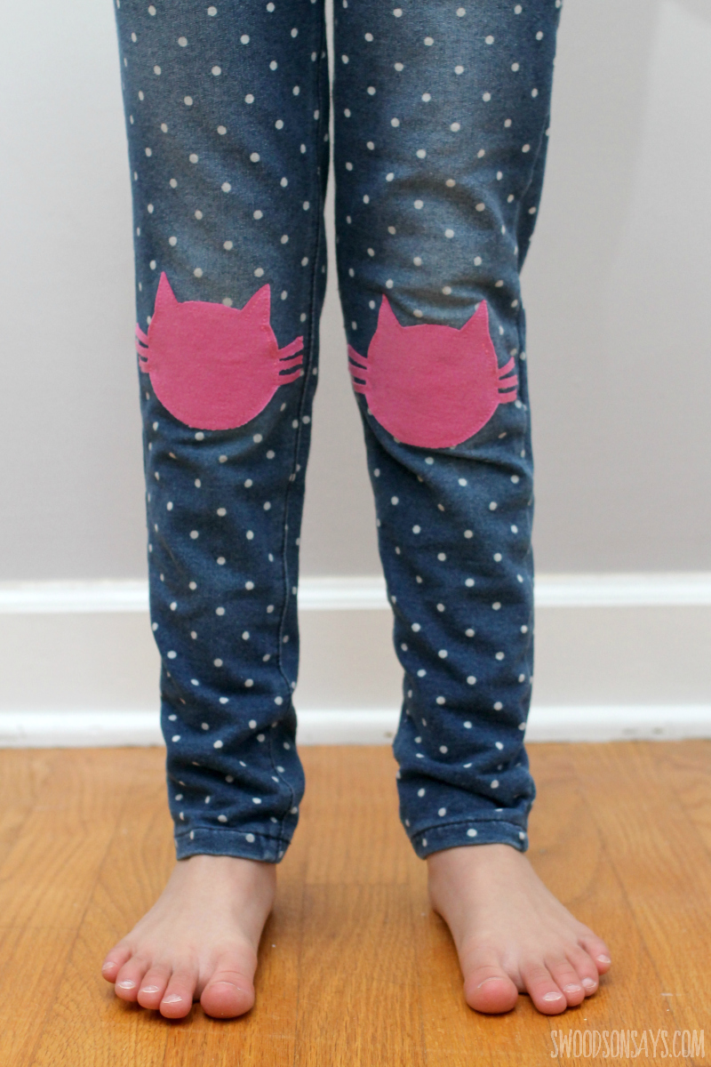 mended kids clothes diy knee patch