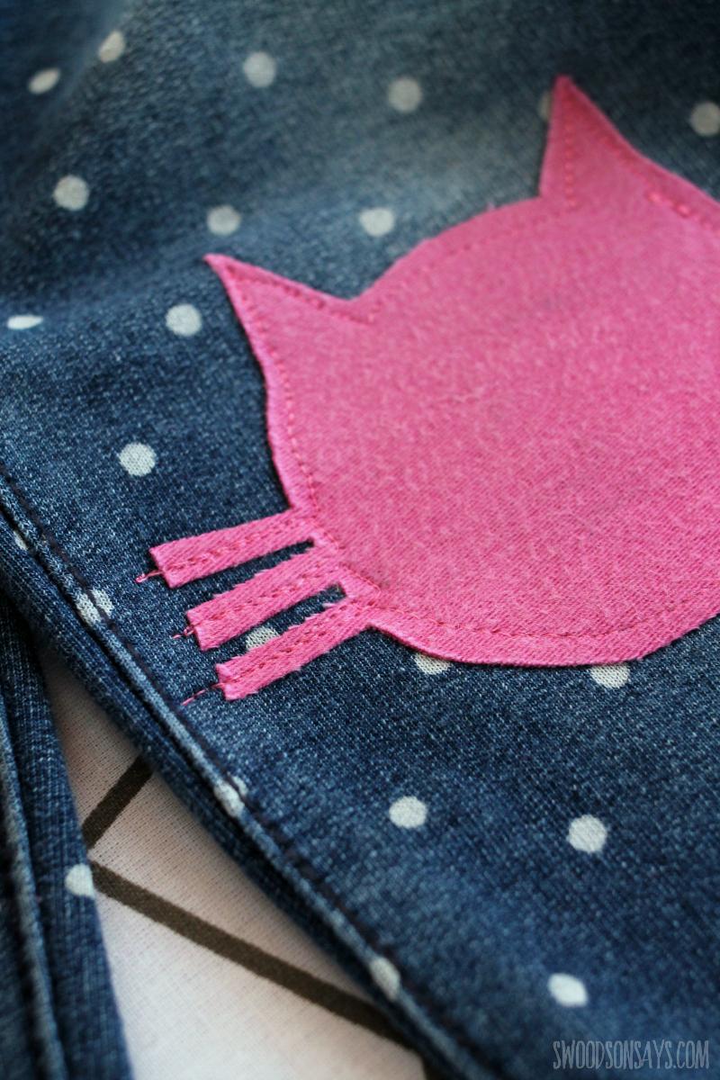 raw stitch applique cat