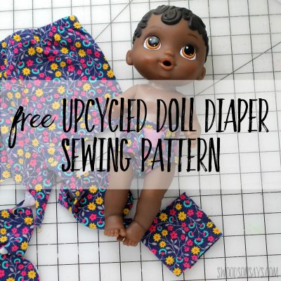 Free doll diaper sewing pattern