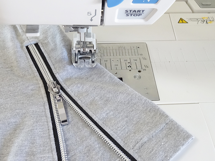 how to add a zipper side vent to a shirt