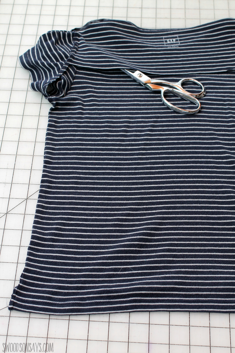 how to cut up a tshirt refashioning