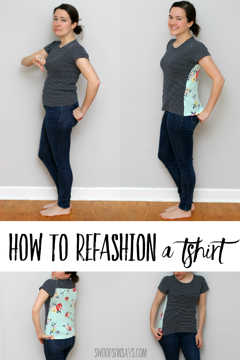 how to upsize a tshirt